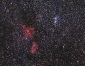 Double Cluster And Nebulae