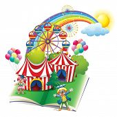 pic of storybook  - Illustration of a storybook about the carnival on a white background - JPG