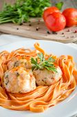 Chicken Meatballs With Pasta