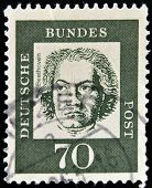 GERMANY - CIRCA 1961: A stamp printed in Germany shows Ludwig van Beethoven