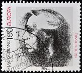 GERMANY - CIRCA 1996: A stamp printed in Germany shows Kathe Kollwitz circa 1996
