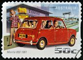 AUSTRALIA - CIRCA 2006: A stamp printed in Australia shows Morris 850 1961 circa 2006