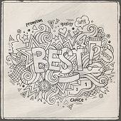 Best hand lettering and doodles elements background