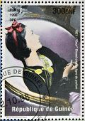 stamp printed in Republic of Guinea commemorating Coco Chanel