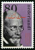 HOLLAND - CIRCA 1993: a stamp printed in Netherlands shows Willem Einthoven Winner of Nobel Prize