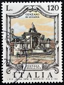 ITALY - CIRCA 1978: a stamp printed in Italy shows Cavallina Fountain Genzano di Lucania circa 1978