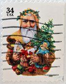 UNITED STATES OF AMERICA - CIRCA 2001: A stamp printed in USA shows Santa Claus circa 2001