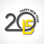image of happy new year 2014  - creative happy new year 2015 design stock vector - JPG