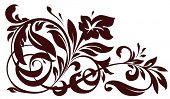 Vector floral element for design