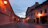 Evening In Vilnius Streets