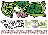 Fantasy grapes border