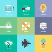 Design Product Development Flat Icons