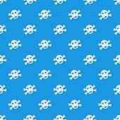 Simple pirate seamless pattern made of vector sculls