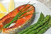 Sockeye Salmon Steak Dinner