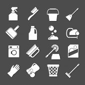 Set Icons Of Cleaning Equipment