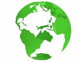 Earth Planet Globe. 3D Render. America View.