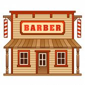 Wild West barber shop building
