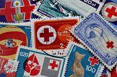 Humanitarian organizations stamps