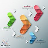 Modern infographics options banner.