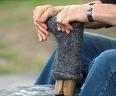 Shoemaker Is Repairing Shoe,boot