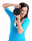 Female Photographer Shooting You