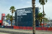 Entrance To World Basketball Festival At Barcelona