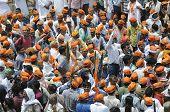 BJP rally in front of BHU university.