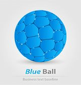 Blue Ball Elegant Icon