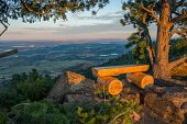 stock photo of bench  - Colorado View Point Bench Place - JPG