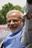Narendra Modi comes to NewDelhi.