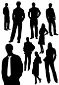 Set of business men and women shapes