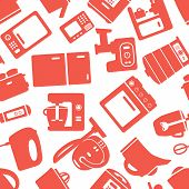 seamless pattern with electronic appliances