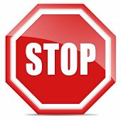 Stop glossy sign