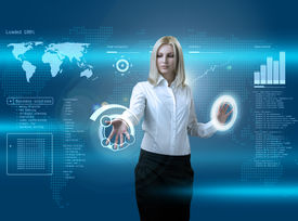 picture of computer technology  - outstanding business people in interiors  - JPG