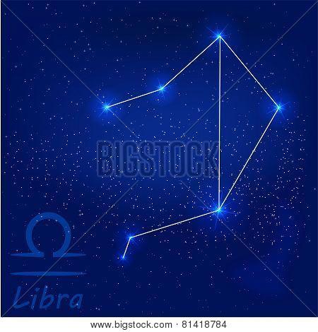Постер, плакат: Constellationlibra, холст на подрамнике