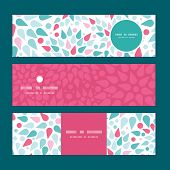 Vector abstract colorful drops horizontal banners set pattern background