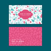 Vector abstract colorful drops horizontal frame pattern business cards set