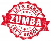 picture of zumba  - zumba red grunge seal isolated on white - JPG