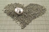 Black tea heart shape sideview