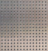 Perforated metal surface texture
