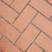 Red brick pavement fragment texture