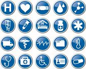 Health care medical  icon set vector