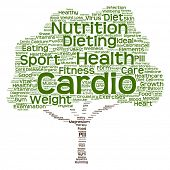 Concept or conceptual health or diet green text word cloud or tagcloud tree isolated on white background