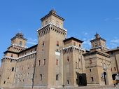 image of ferrara  - Este castle - JPG