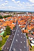 Cityview Of Old Historic Town Of Oberursel, Germany.