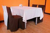 restaurant interior modern design in orange