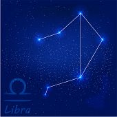 stock photo of libra  - vector illustration of constellation