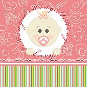 Greeting card for little girl