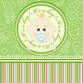 Greeting card for babies