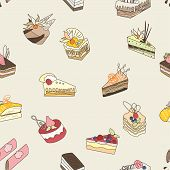 Cake vector pattern